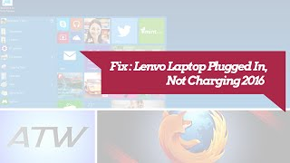 lenovo laptop plugged in not charging windows 10 fix
