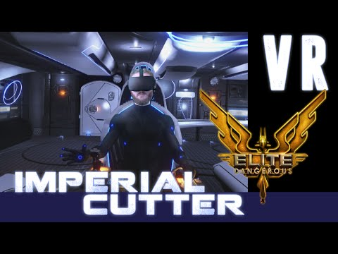 Elite Dangerous VR: My new Imperial Cutter - Best biowaste hauler in the galaxy