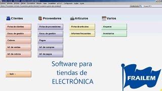 Software para gestionar tiendas de Electrónica