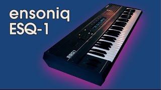 ENSONIQ ESQ-1 Synthesizer 1986   CUSTOM PATCHES   HD DEMO
