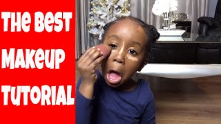 HILARIOUS MAKEUP TUTORIAL BY 4 YEAR NEVAEH