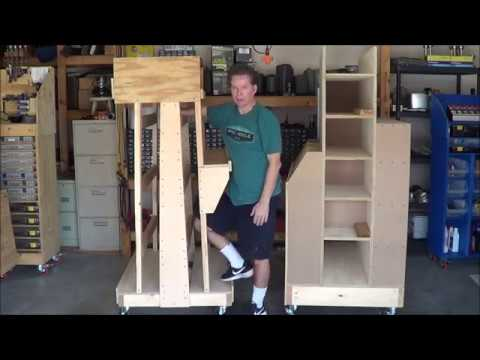 Fun with Robotics - Episode 11- Building wood storage carts for 2x4 and sheet goods