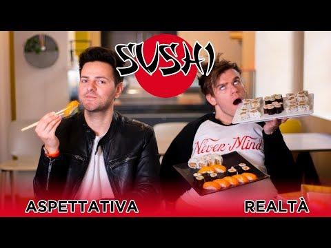 SUSHI 🍣 - Aspettativa VS Realtà - iPantellas
