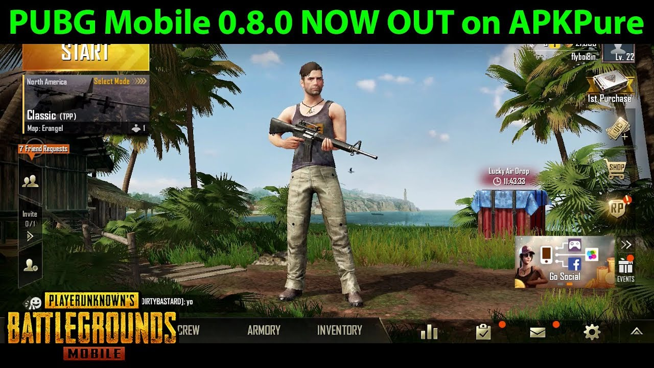 PUBG Mobile 0.8.0 OUT NOW on APKPure!!! Download / Play SANHOK NOW! | DerekG Update News