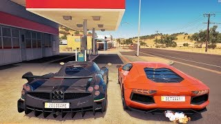 Lamborghini Aventador VS Pagani Huayra - Forza Horizon 3 Online - GoPro - G27 ‹ ZoiooGamer ›