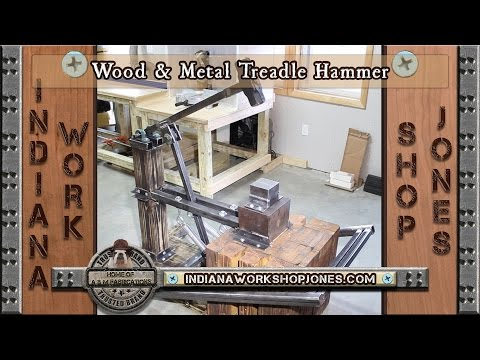 Wood & Metal Treadle Hammer for Forging/Blacksmithing