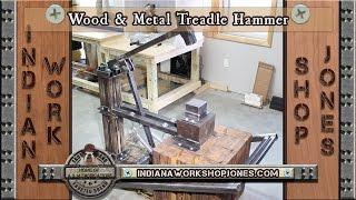 Wood & Metal Treadle Hammer for Forging/Blacksmithing