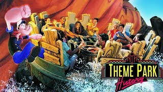 The Theme Park History of Popeye and Blutos Bilge Rat Barges Universals Islands of Adventure
