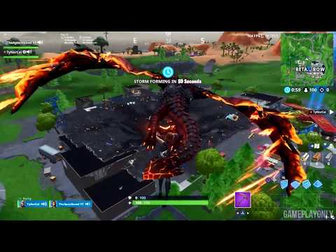 DRUM GUN Gameplay at New Tilted Towers & Retail Row - Fortnite Battle Royale (No Commentary)