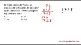 5. Sınıf Doğal Sayılarda Bölme (öğrenmeyen kalmasın) Video