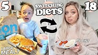 I Swapped DIETS with my Little BROTHER for 24 HOURS!