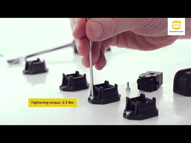 HARTING Han® 1 A Bulkhead Mounted Housing – Assembly instruction