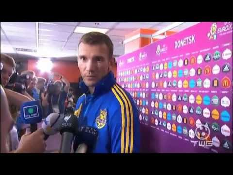 English interview with Ukraine's Andriy Shevchenko after the 1-0 loss to England