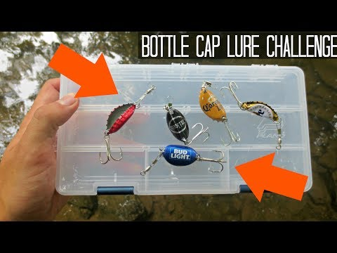 BOTTLE CAP LURE FISHING CHALLENGE! Does It Catch Fish?