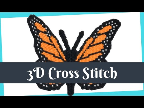 GUIDE To 3D CROSS STITCH On PLASTIC CANVAS | How To Do Cross Stitch Flosstube