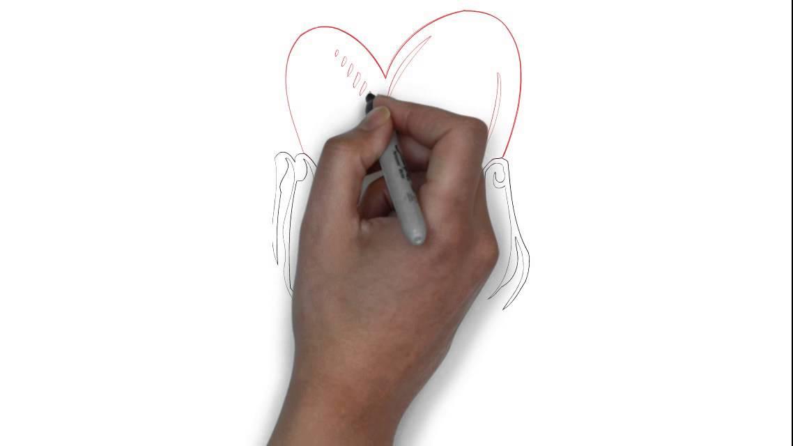 Cómo Dibujar Manos Sosteniendo Un Corazón Youtube