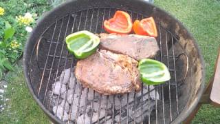 Impro At Cooking With Dopefish #11 - Barbecued Sirloin Steak With Rosemary & Garlic!