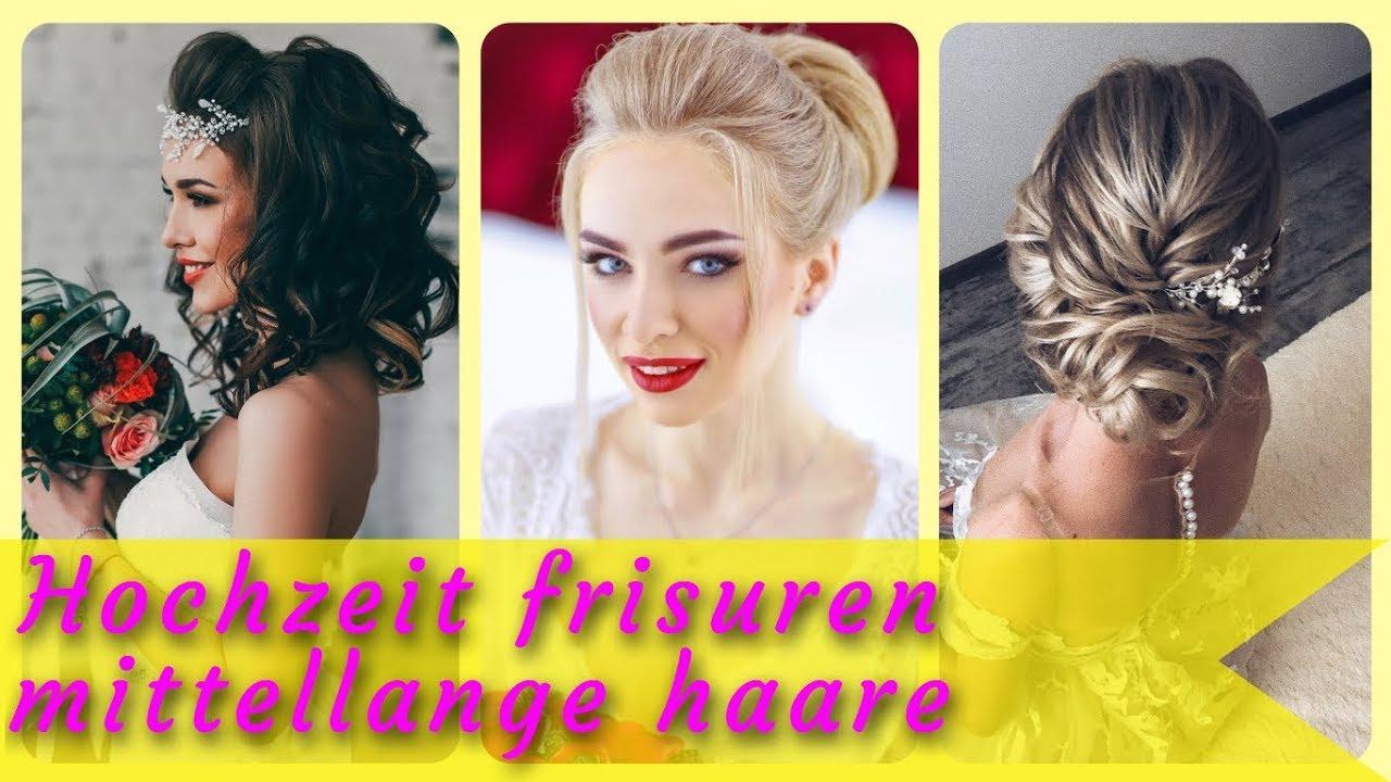 20 Frisurideen Für Hochzeit Frisuren Mittellange Haare 2019 Youtube