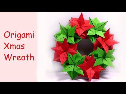 Origami Christmas Wreath | DIY Paper Crafts | DIY Handmade