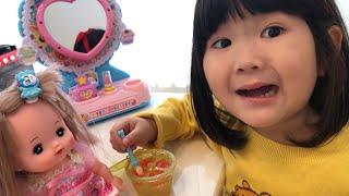 メルちゃんおせわごっこ!メイクして一緒におでかけ Mell-chan Make Up Doll Toy