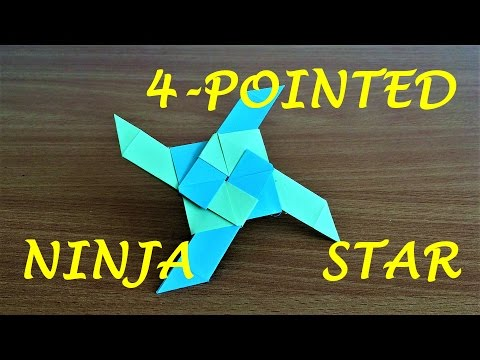 How To Make a 4-Pointed Transforming Ninja Star (Origami)