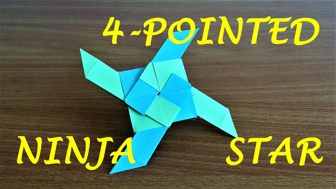 Origami Art and Craft - double sided transforming ninja star - YouTube | 720x1280