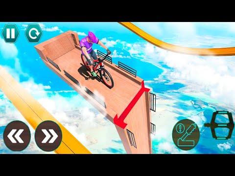 Cycle Stunt Racing Impossible Tracks - Mega Ramp Bicycle - Android Gameplay #18 thumbnail