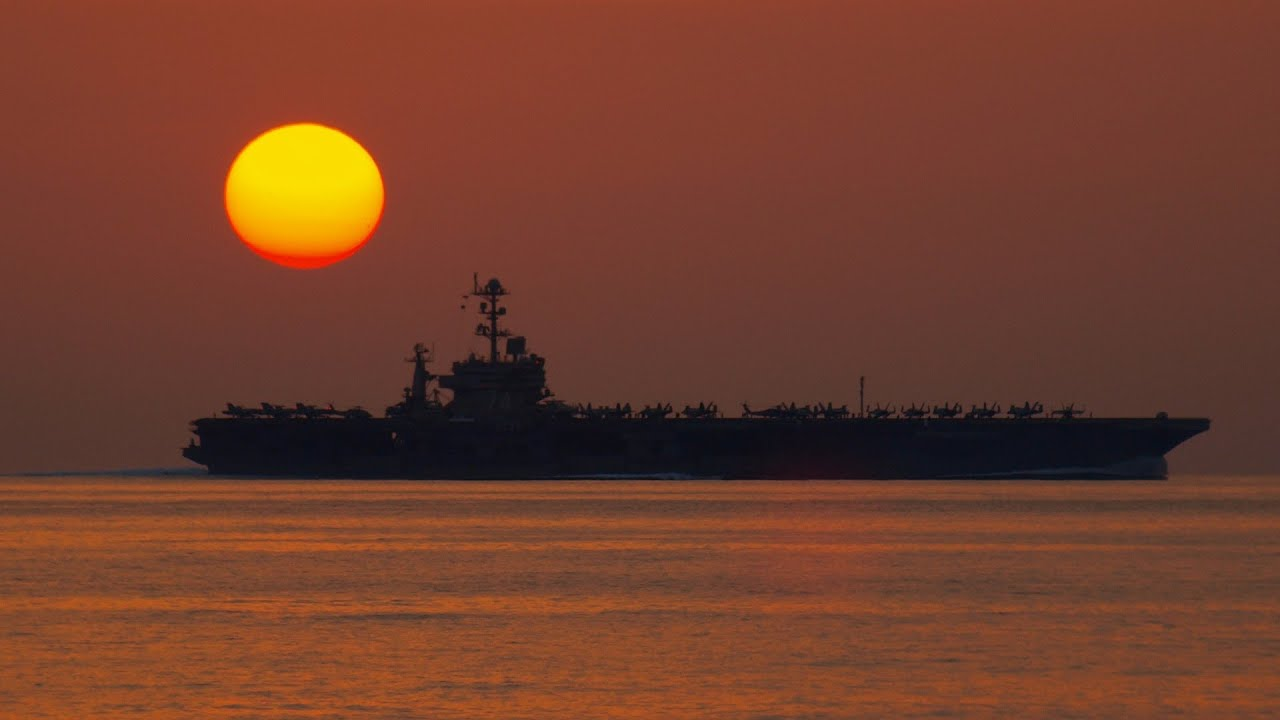 1920x1080 Sunset Aircraft Carrier Collection 12 Wallpapers
