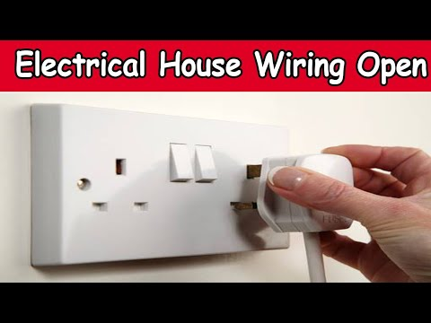 Electrical House Wiring! Open Wiring For Beginners Urdu/Hindi