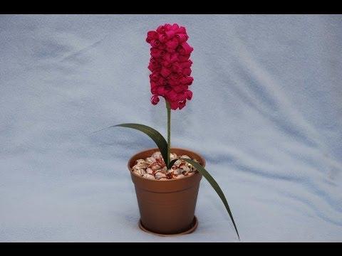 Cмотреть видео Гиацинт из конфет. Букет из конфет. DIY Hyacinth of sweets.
