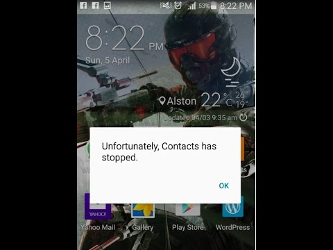 Unfortunately app has stopped Fix