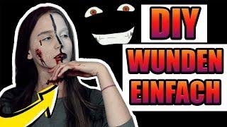 Halloween 👻 WUNDEN selber machen (EINFACH) - Celina