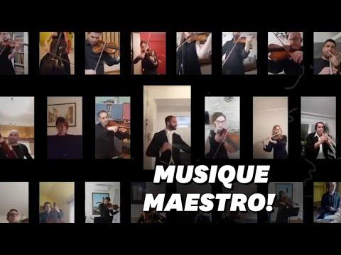 Malgré le confinement, l'Orchestre de Serbie a joué