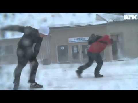 Snøballkrigen - Snøstorm i Vardø