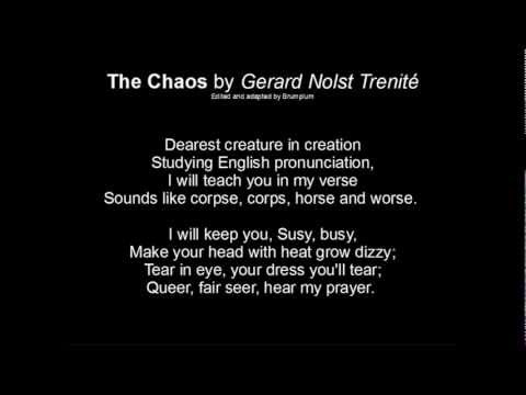 The Chaos (Of Pronunciation) G.N. Trenité