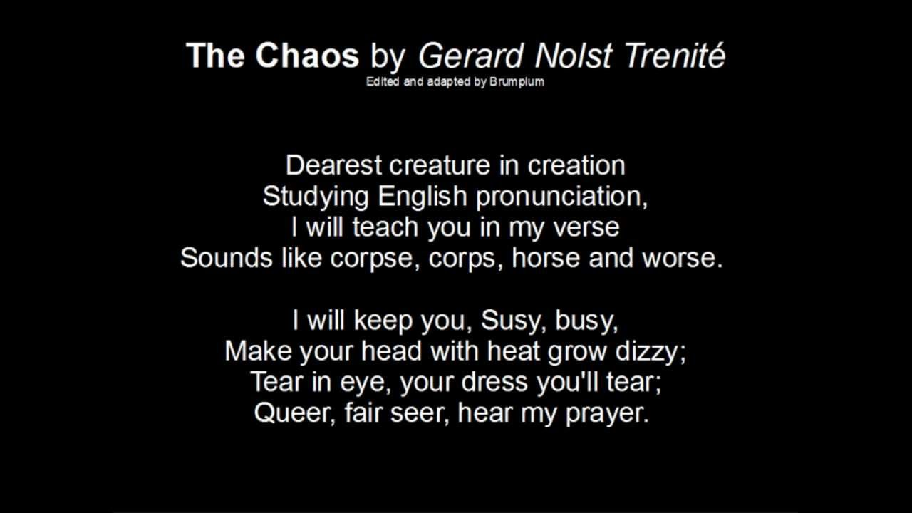 The Chaos (Of Pronunciation) G N  Trenité