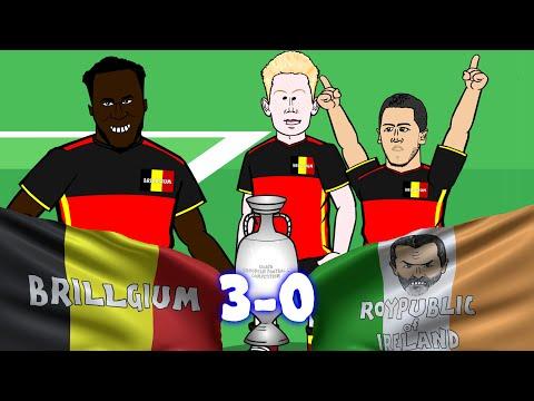 Belgium vs Republic of Ireland 3-0 (Euro 2016 Romelu Lukaku and Axel Witsel goals highlights)