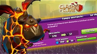 COMECEI O PUSH E COMPLETEI O DESAFIO DO LAVA HOUND! CLASH OF CLANS 2017