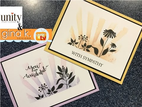 Gina K Designs Amp Unity Stamp Co Hello Lovely Stenciled