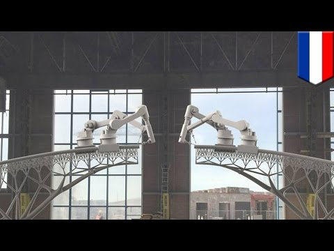 3D printing: first 3D-printed steel bridge to be built over Amsterdam canal - TomoNews