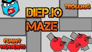 NEW DIEP.IO MAZE FUNNY MOMENTS!! // Trolling // Defeating Teamers