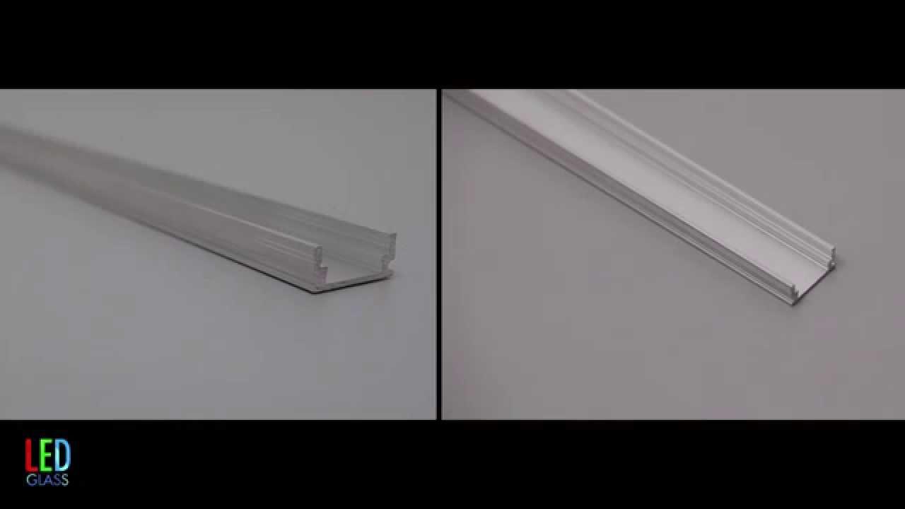 recessed aluminium profile for LED strip P5 - YouTube