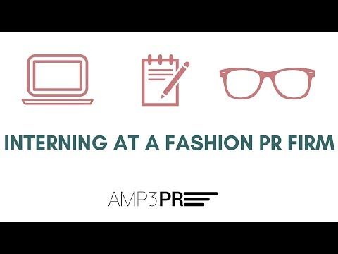 Interning At A Fashion PR Firm