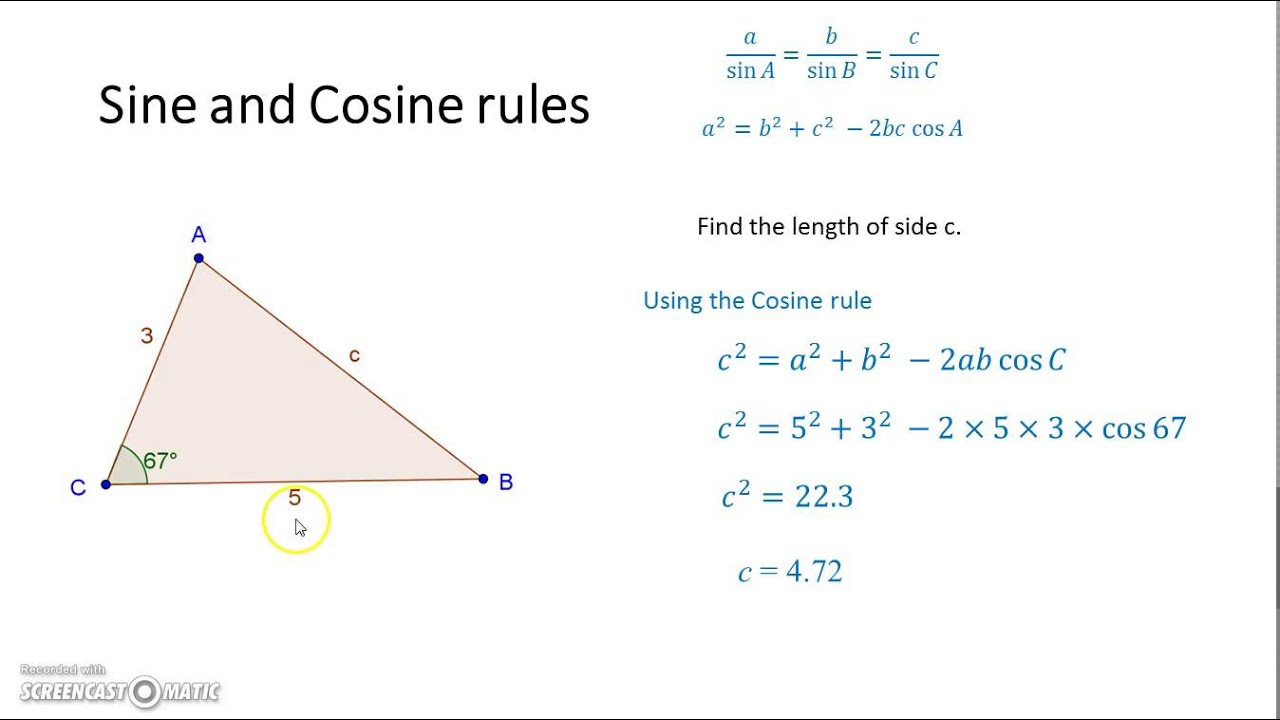 an introduction to the standards of measurement sine and cosine rules Before we delve into pythagoras' theorem, the sine rule, and the cosine rule, it is important to state however, sine and cosine are derived from the sides of an imaginary right triangle superimposed on the the ratio of the length of a side of a triangle to the sine of the angle opposite is constant for all.