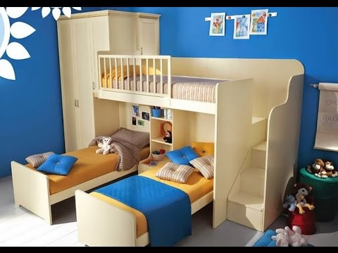 تصاميم غرف نوم اطفال ثلاث سراير       YouTube