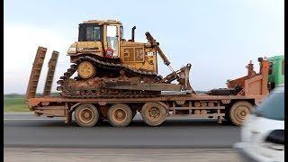 Wow! Transporting Caterpillar D6H LGP Bulldozer - Heavy Transports