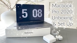 """UNBOXING & SETTING UP MY NEW MACBOOK PRO 2020 13"""" 