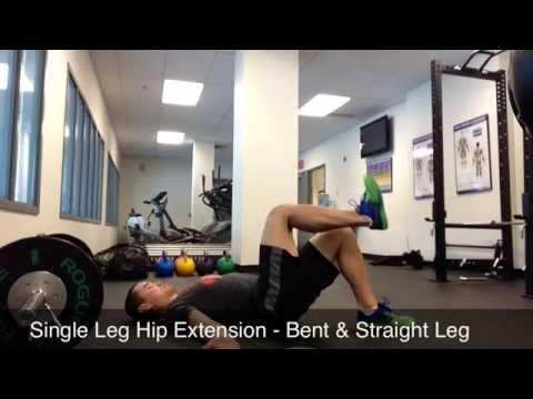 Single Leg Hip Extension - Bent & Straight Leg