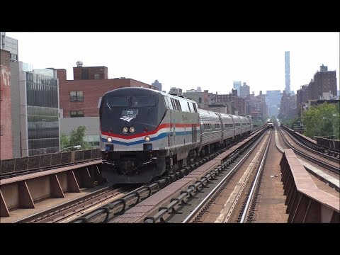 Amtrak HD 60fps: First Day of Empire Corridor Service into Grand Central Terminal @ Harlem-125th St.