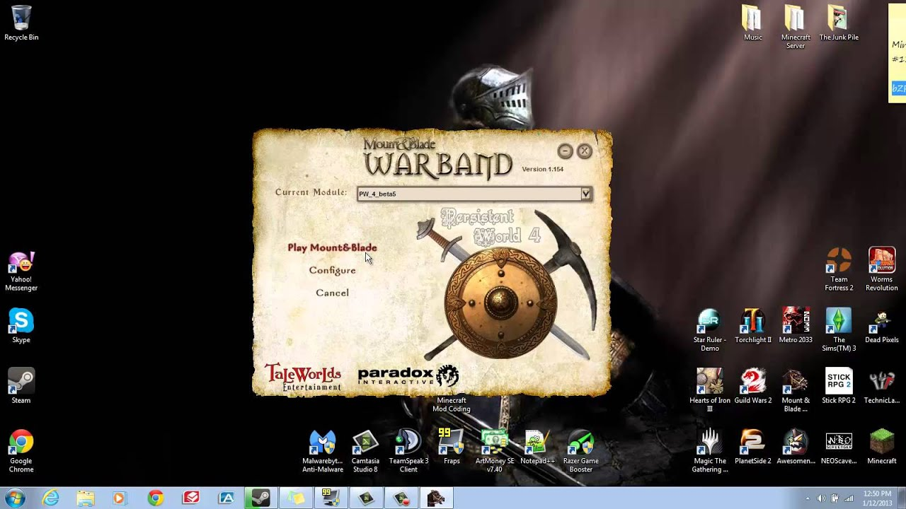 how to install mount and blade warband mods windows 10